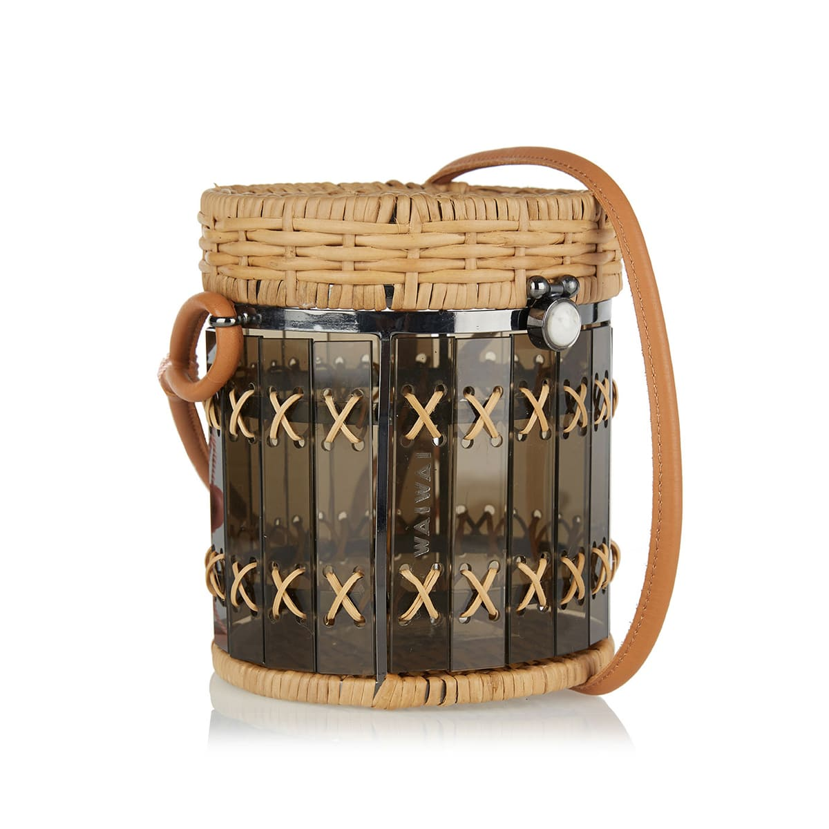Bongo rattan and acetate bag