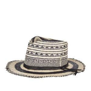 Vagues Negra straw fedora hat