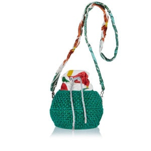 Diamond Heart Basket bag
