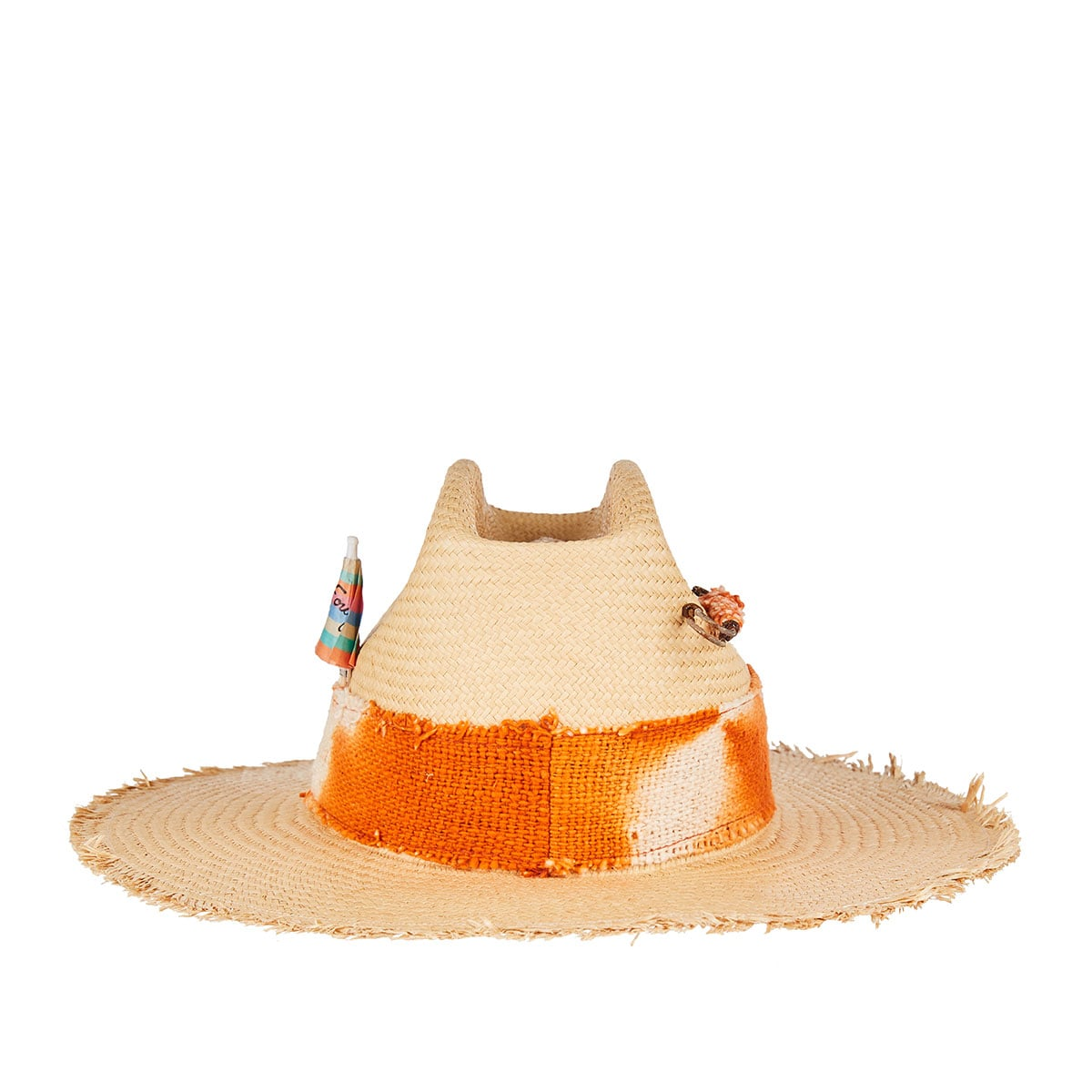 Machete straw fedora hat