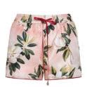 Pistis Plumeria silk pyjama shorts