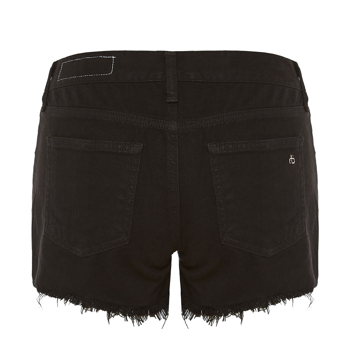 Cut-off cotton shorts