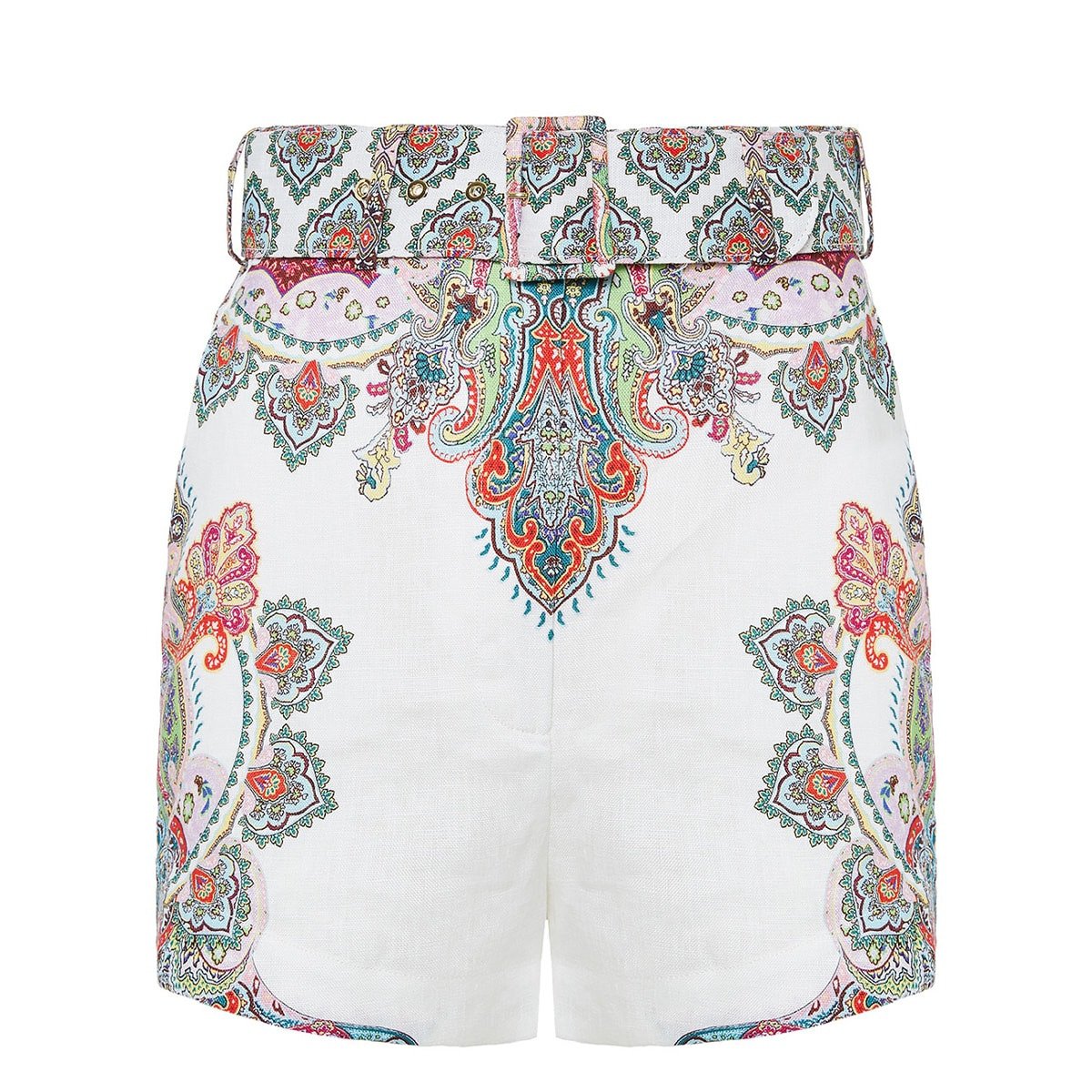 Ninety-Six printed linen shorts