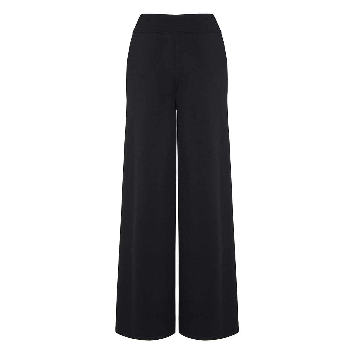 Knitted wide-leg trousers