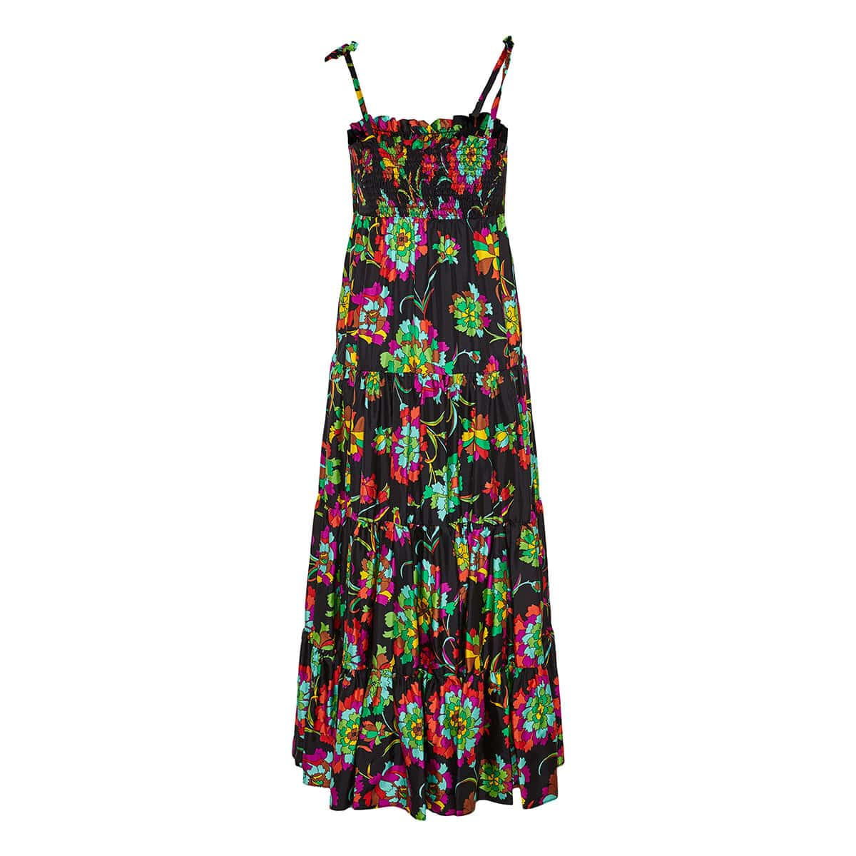 Bouncy floral tiered dress