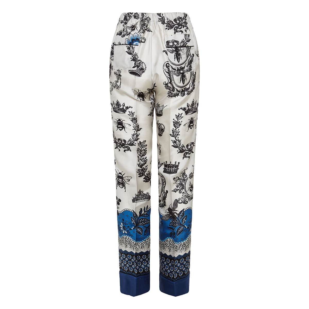 Printed silk pyjama trousers