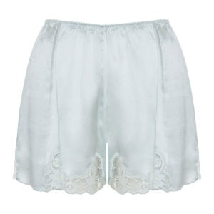 Lace-trimmed silk shorts