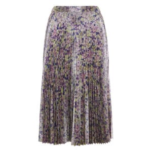Isabelle floral pleated lurex skirt