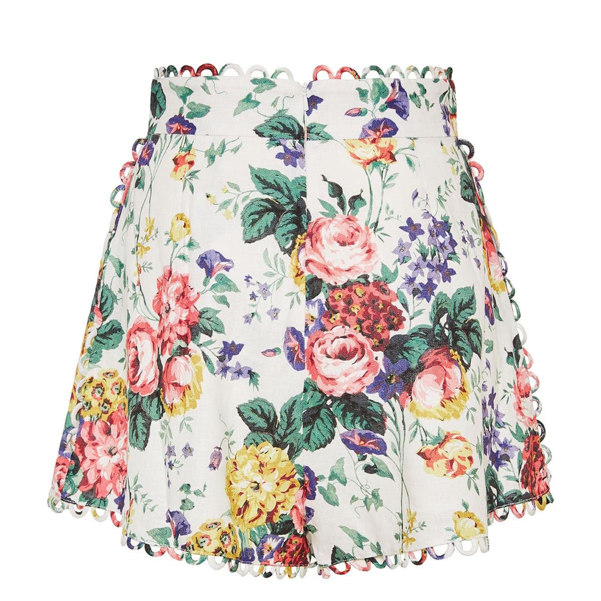 Allia floral linen shorts