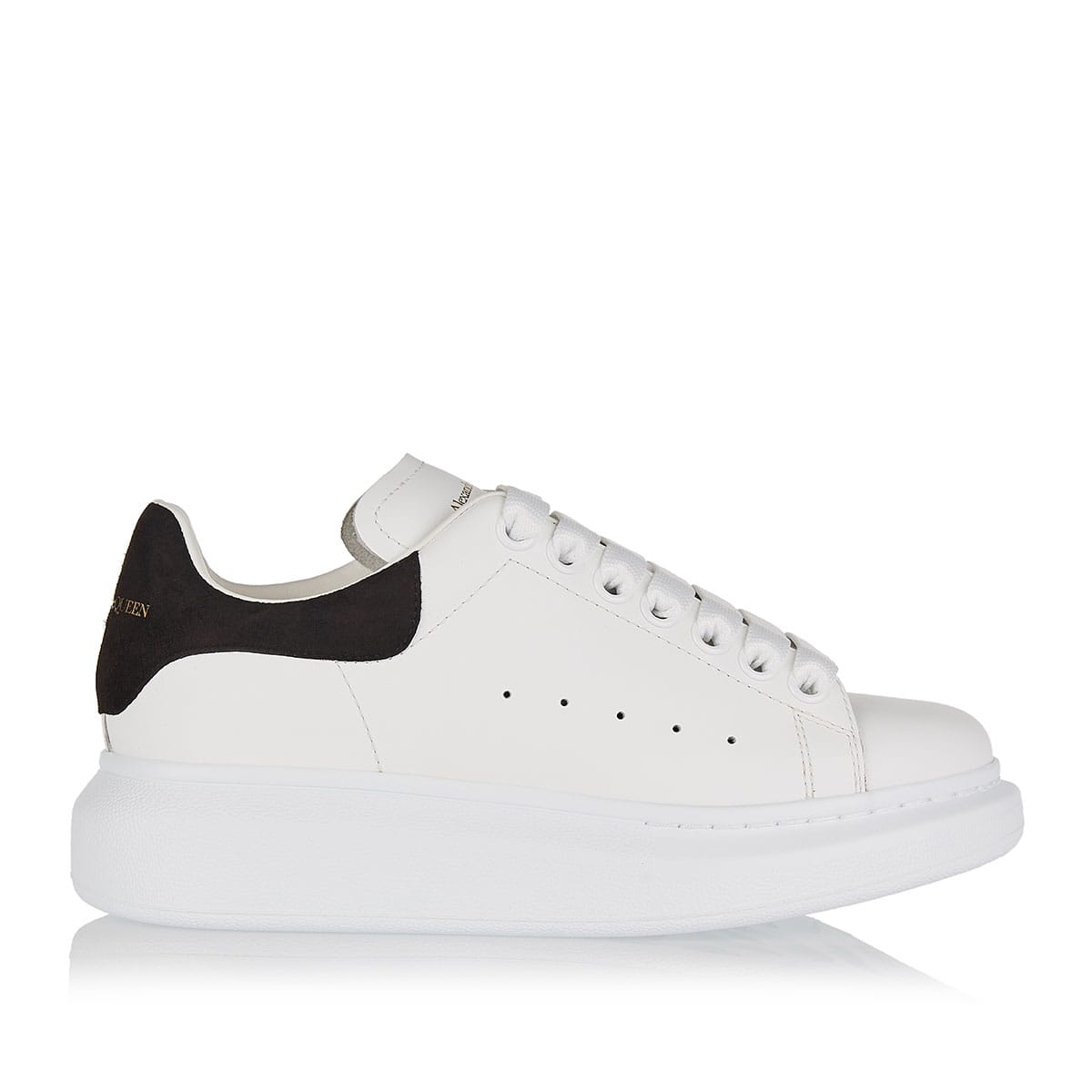 Leather sneakers with oversized sole