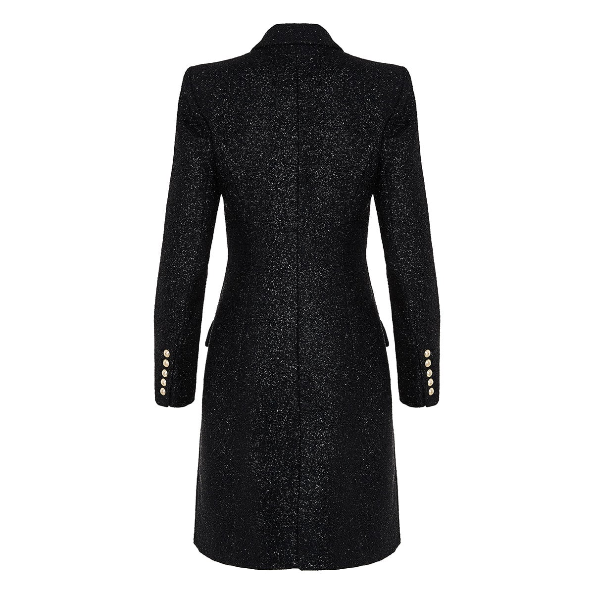 Metallic thread wool coat
