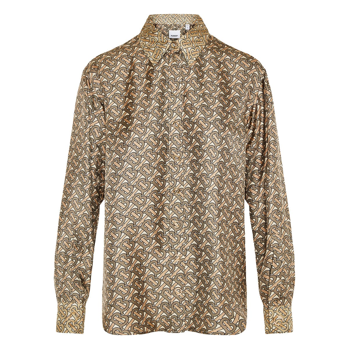 TB printed silk shirt