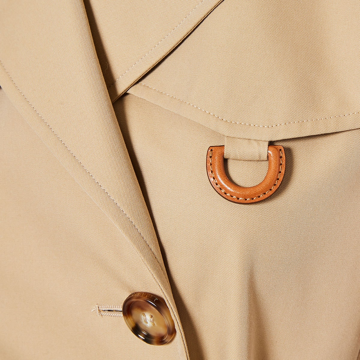 D-ring cotton trench coat