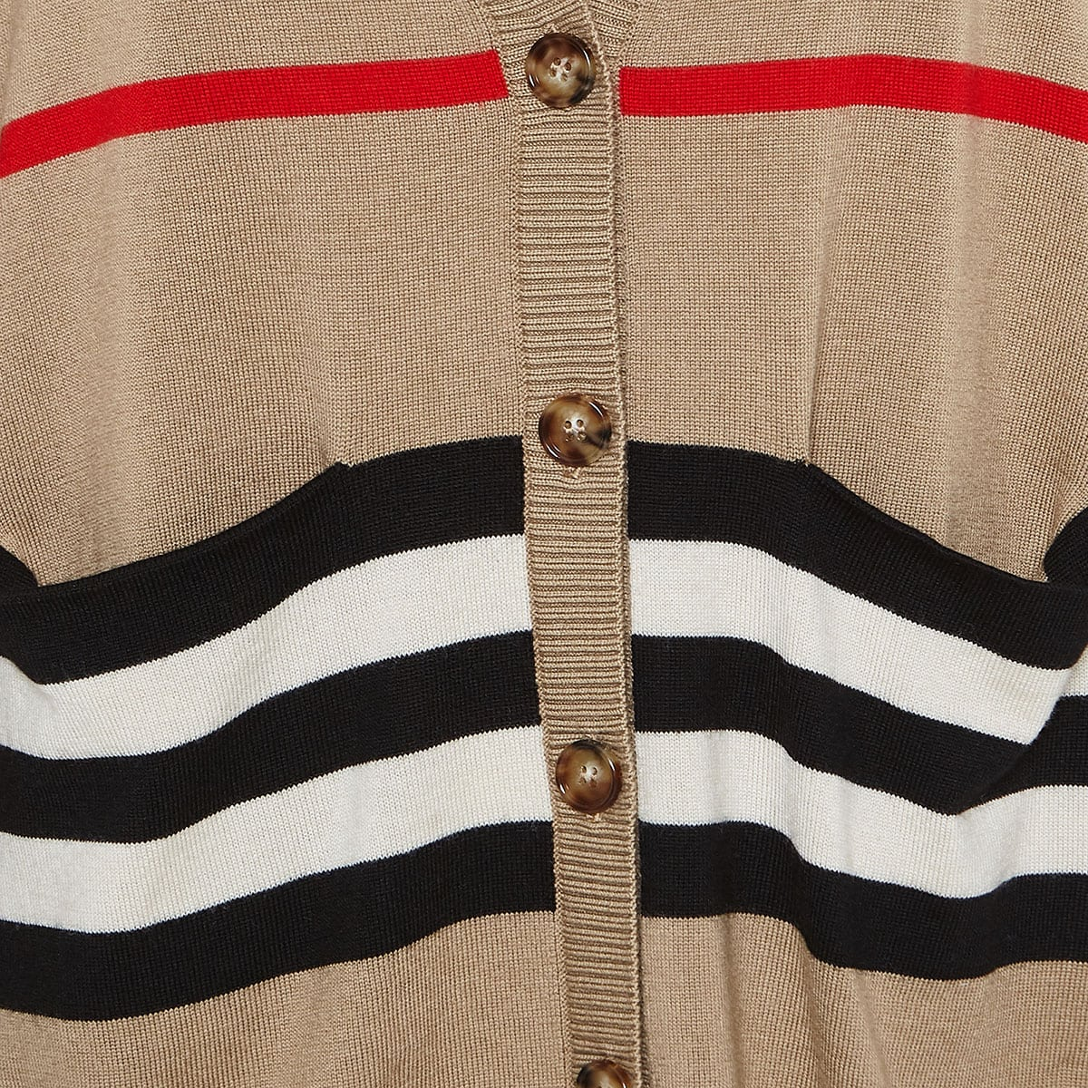 Icon Stripe oversized cardigan