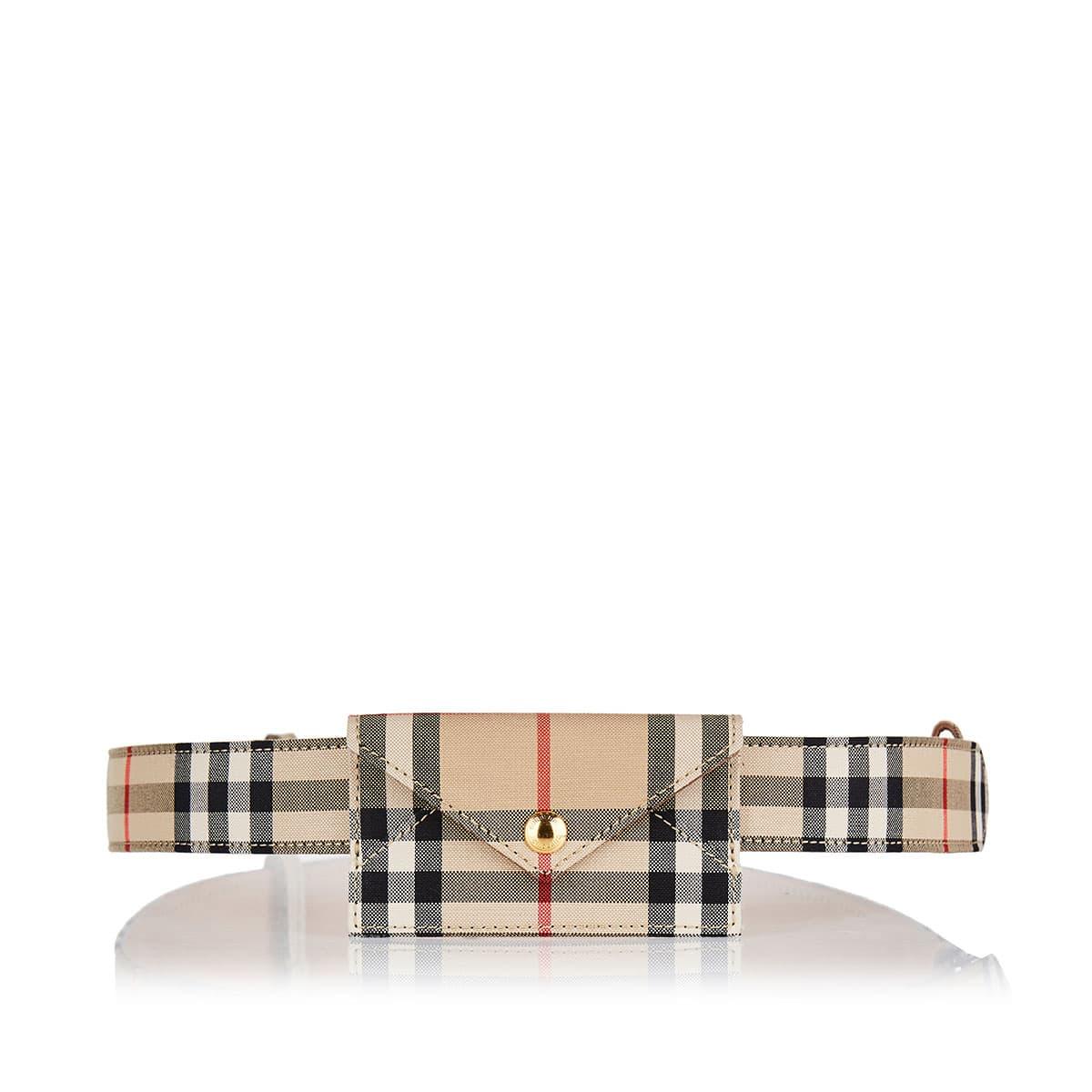 Vintage Check card-case belt