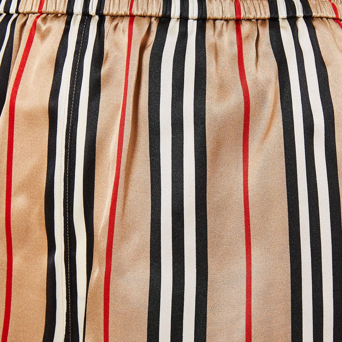 Icon Stripe Silk Shorts