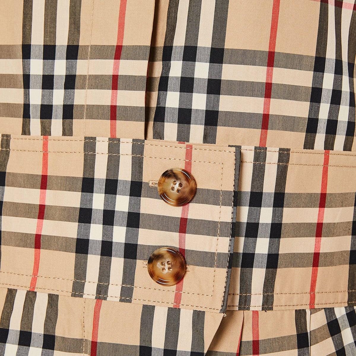 Vintage Check mini shirt dress