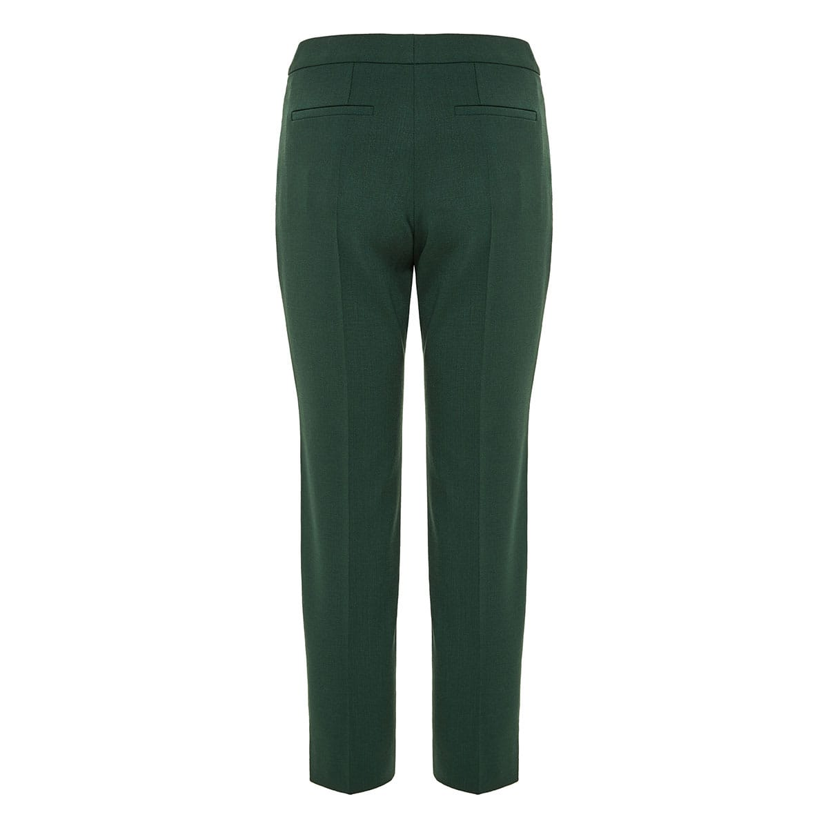 Cropped wool tailored trousers