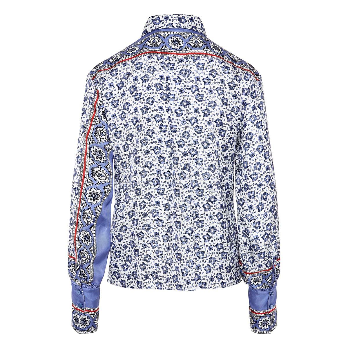 Bandana print silk shirt