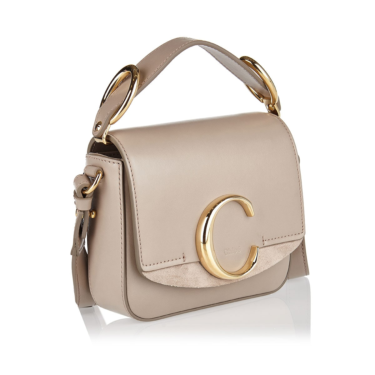 Mini Chloé C leather bag