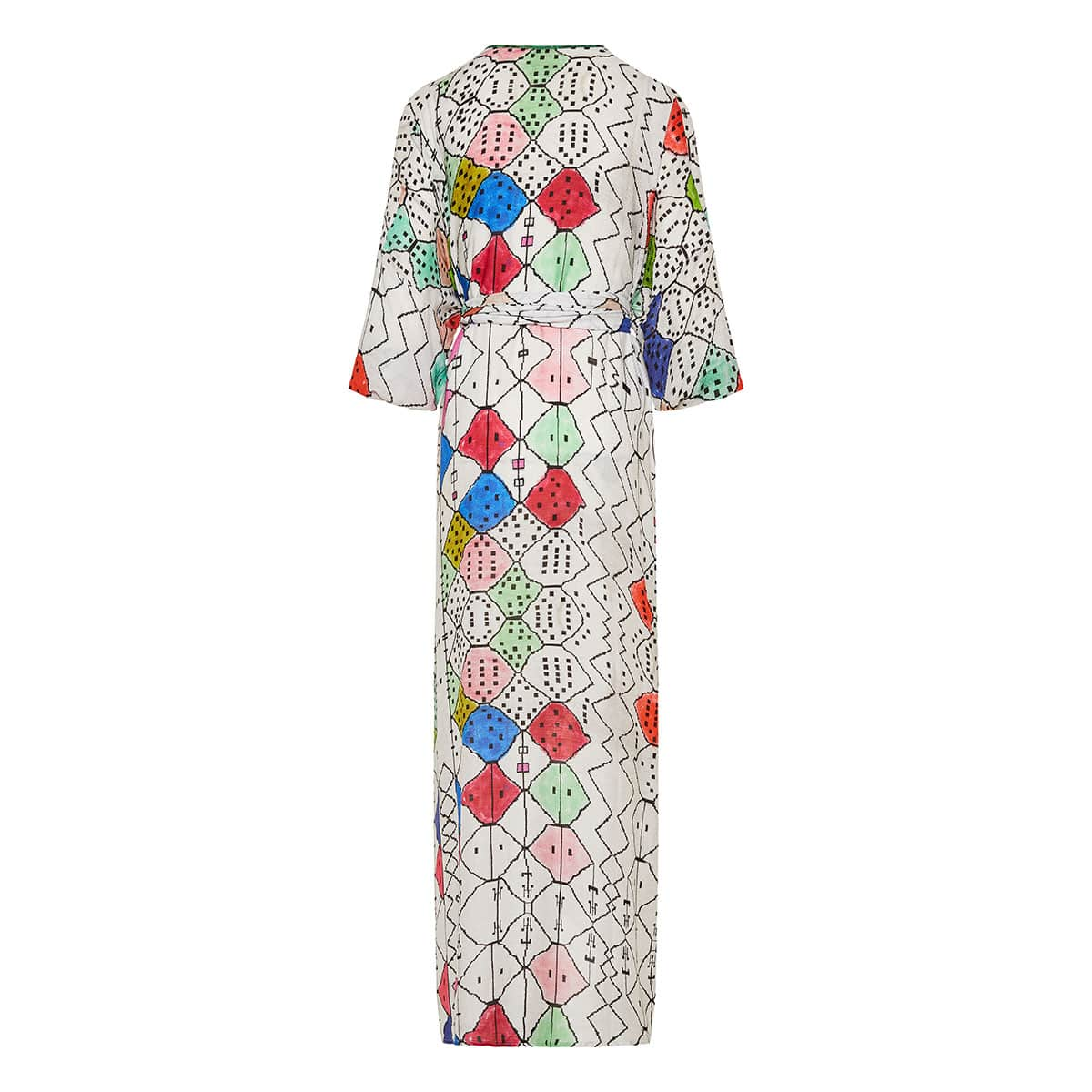 Soufiane printed jacquard long tunic