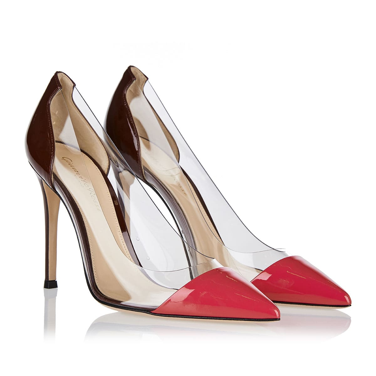 Plexi 105 patent leather and pvc pumps