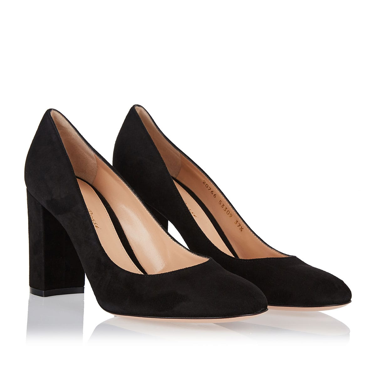 Piper 85 block-heel suede pumps