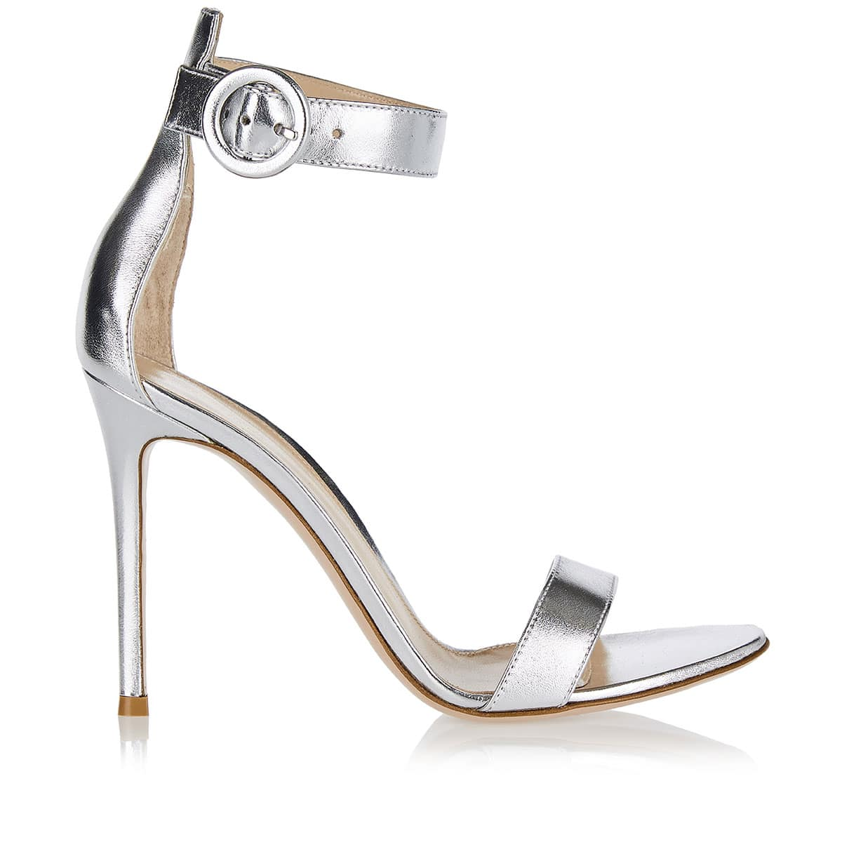 Portofino 105 metallic leather sandals