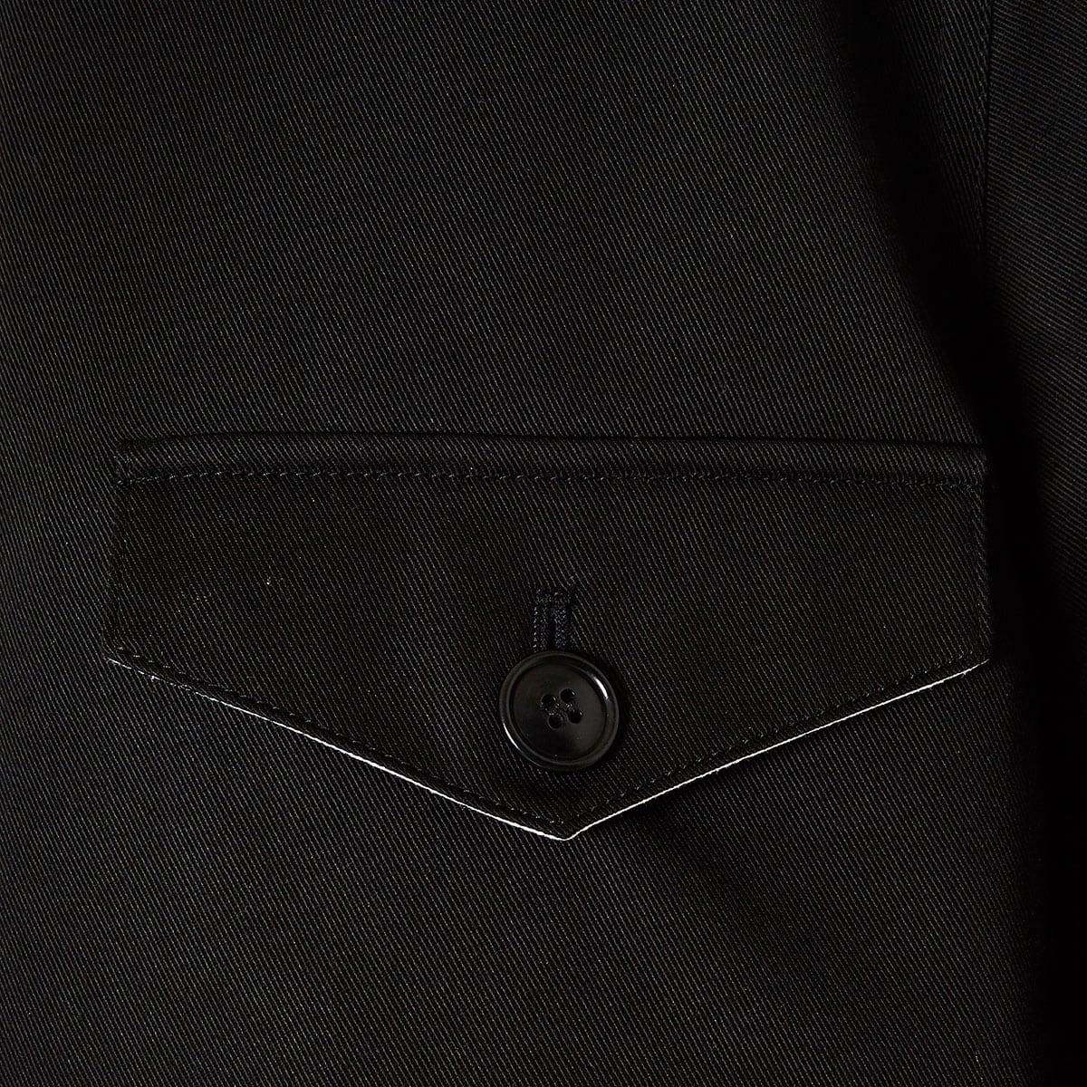 Cropped gabardine jacket