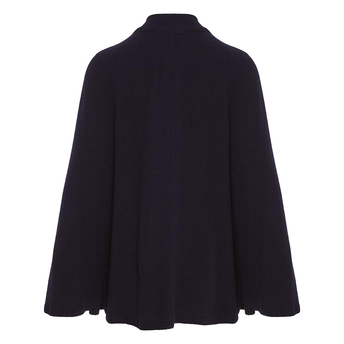 Knitted zipper cape