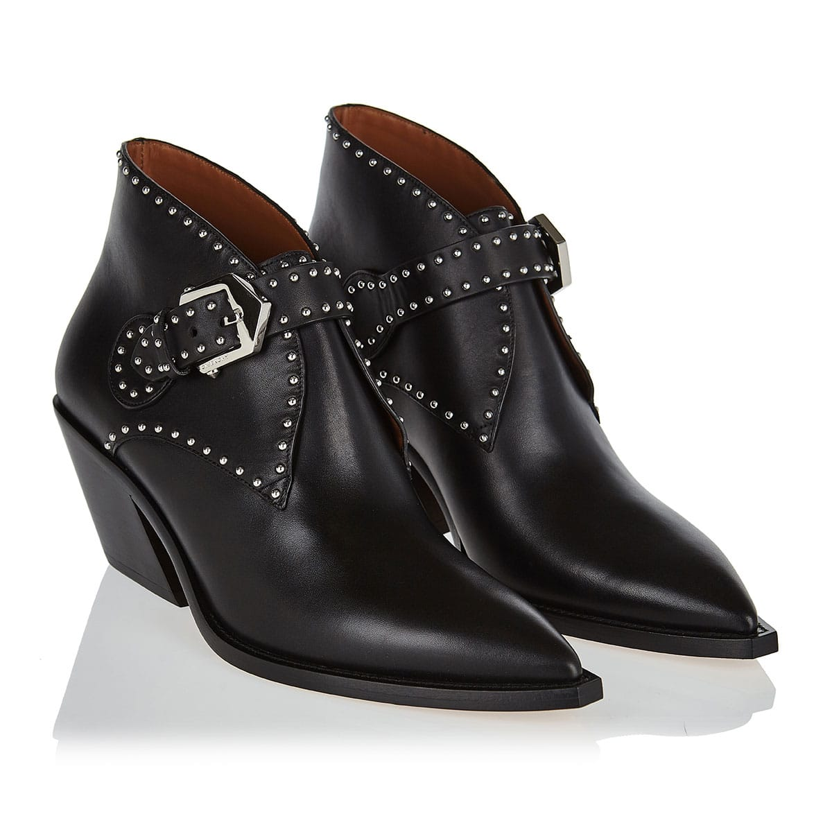 Studded cowboy booties