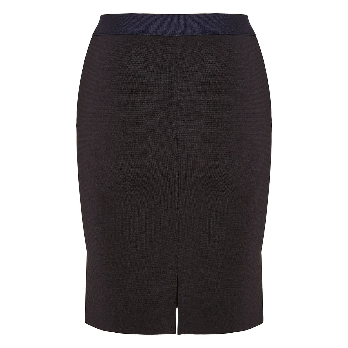 Two-tone fitted zipper mini skirt