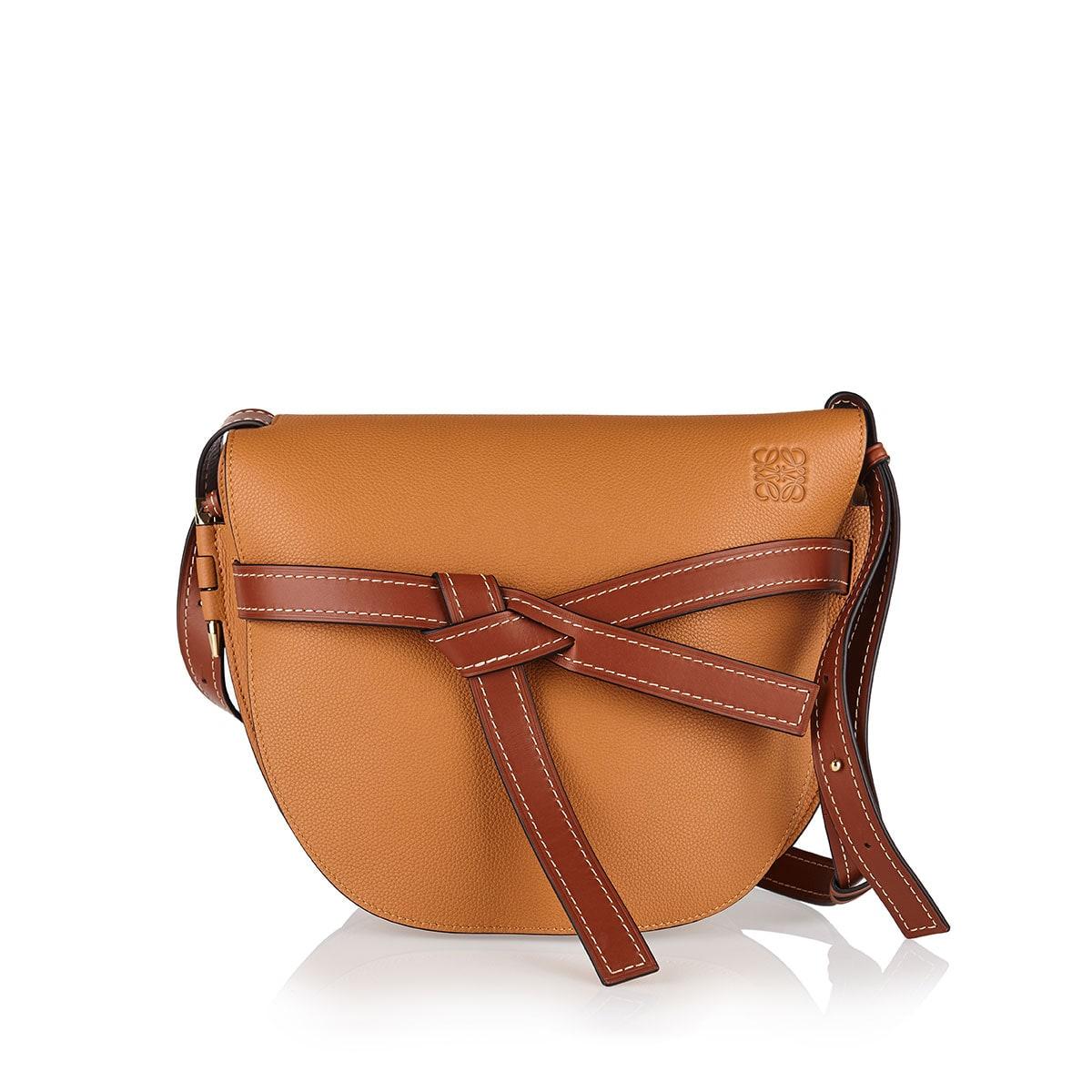 Gate leather shoulder bag
