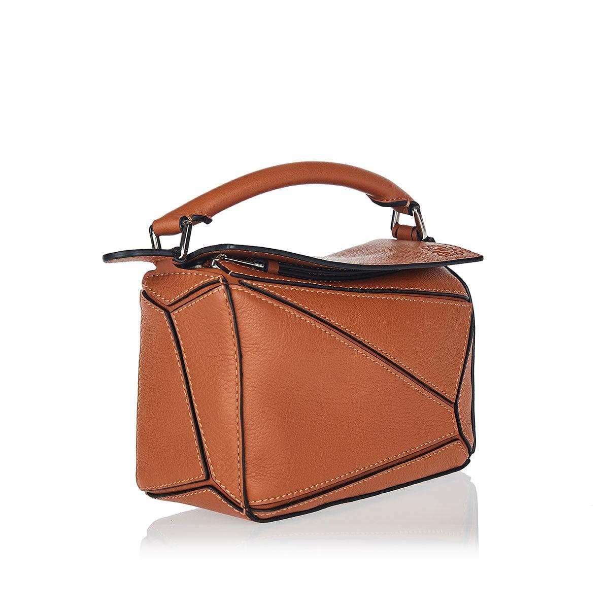 Puzzle mini leather bag