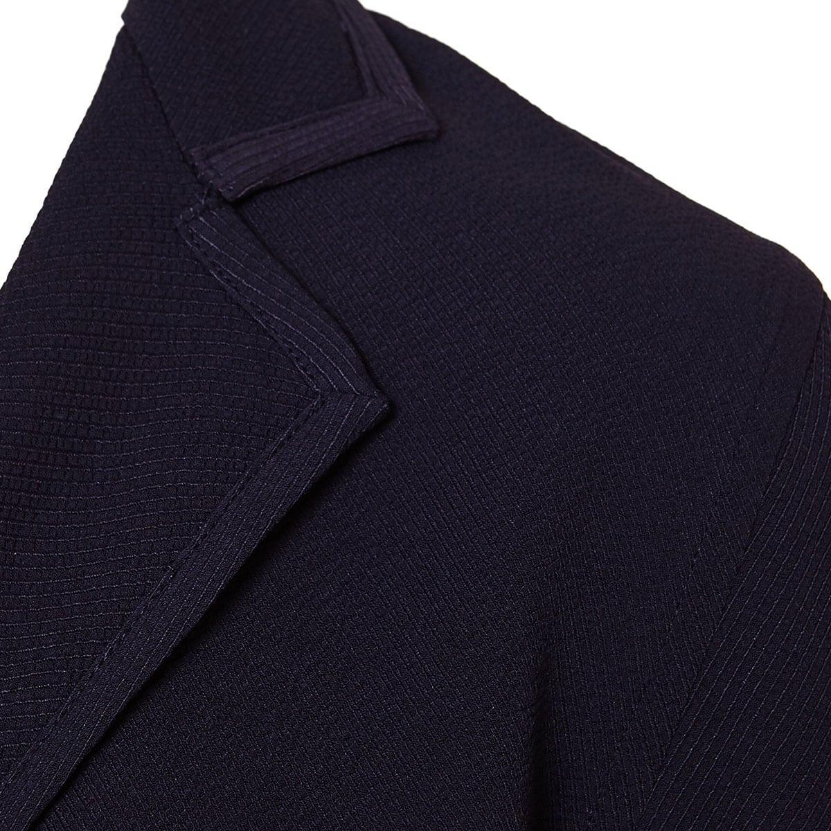 Dean wrap-effect draped top