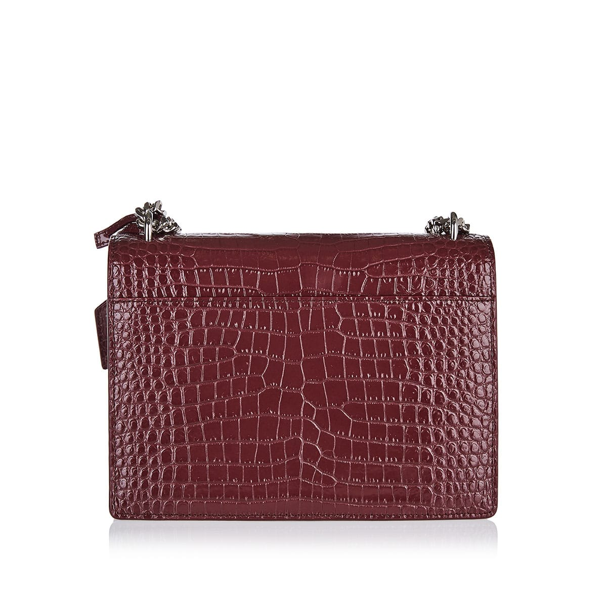 Medium Sunset bag in croc-effect leather
