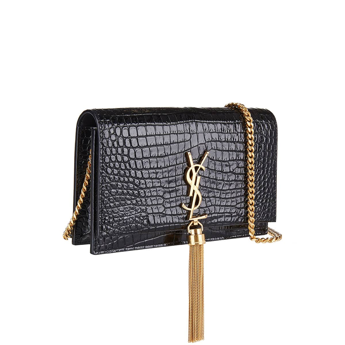 Kate tassel croc-effect chain bag