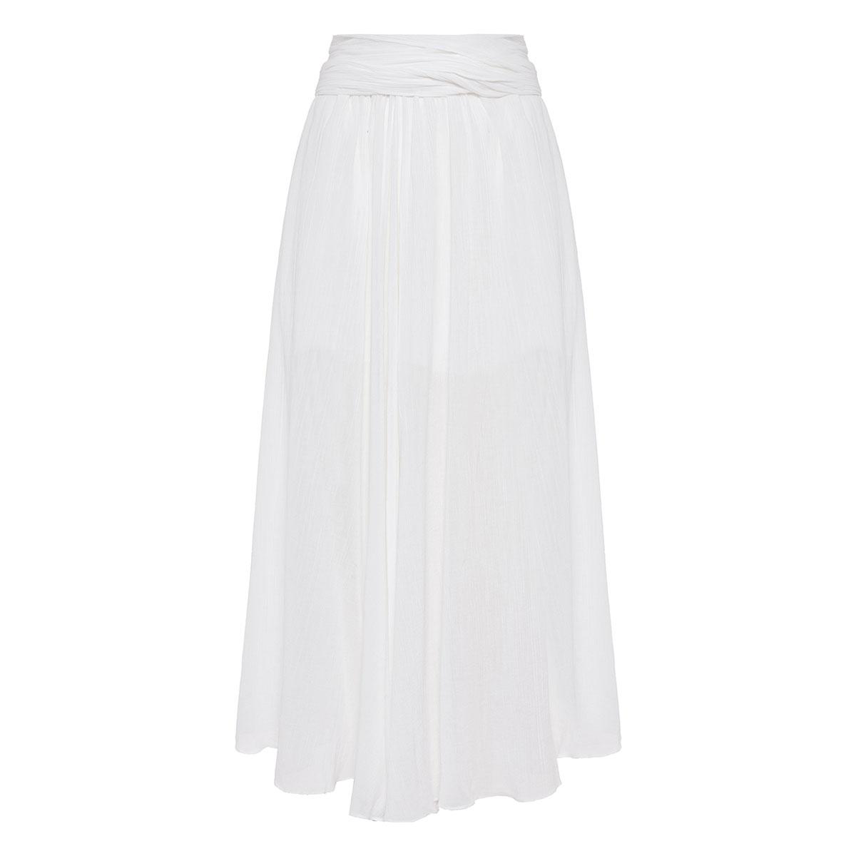 Dorothea crinkled midi skirt