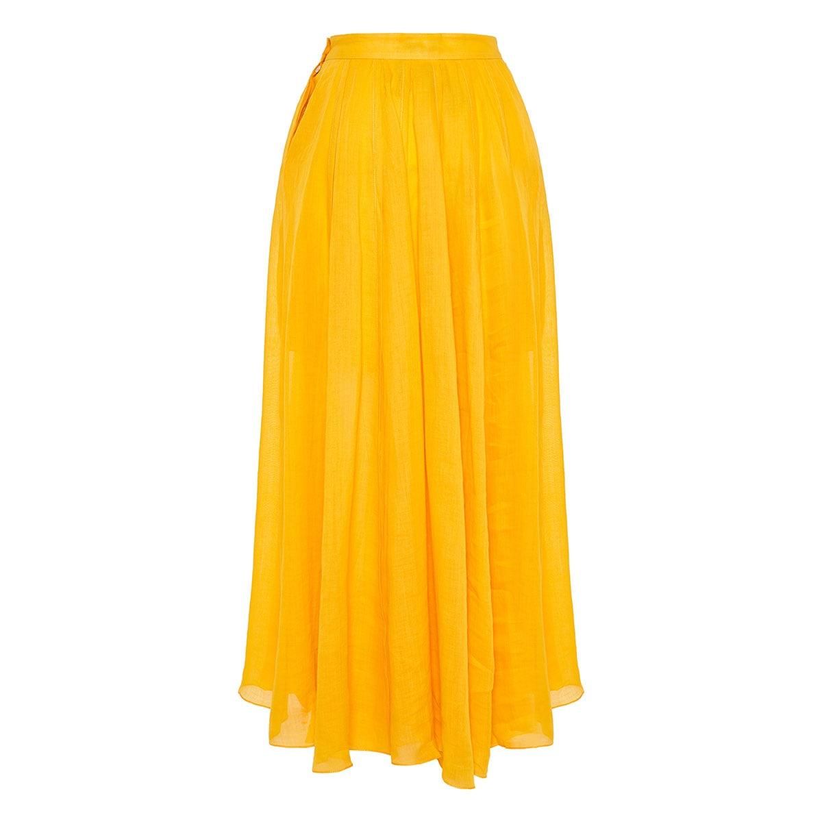 Arlene long pleated skirt