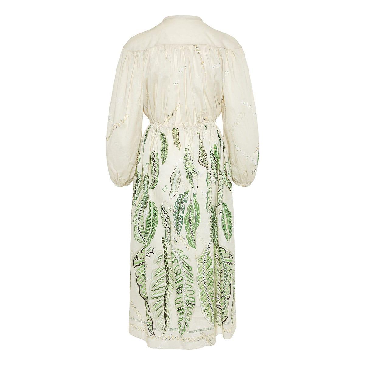 x Zandra Rhodes Julienne printed gathered midi dress