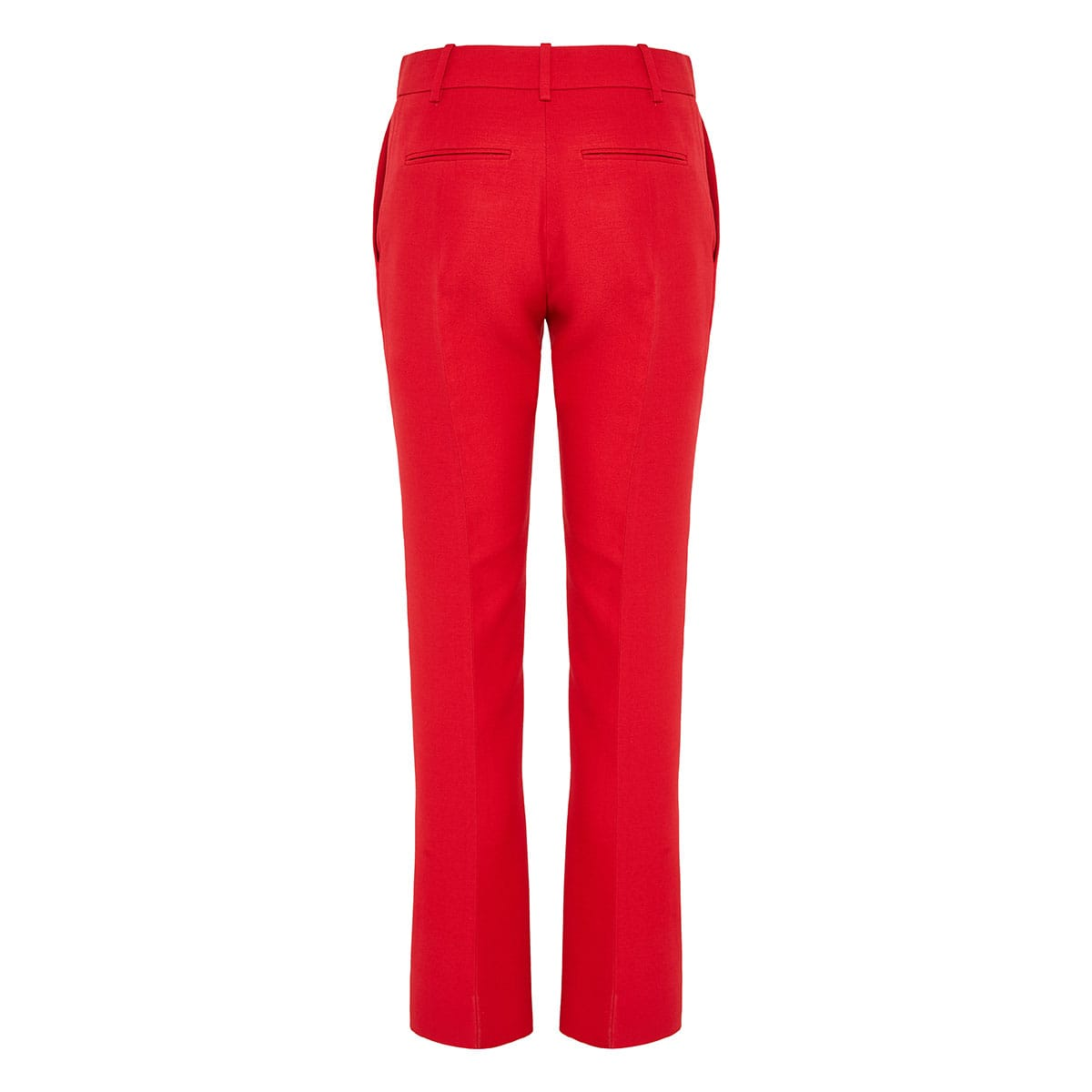 Ankle-length tailored trousers