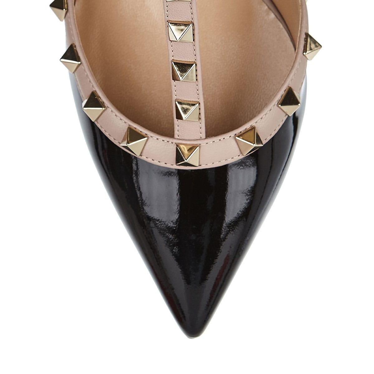 Rockstud leather Pumps