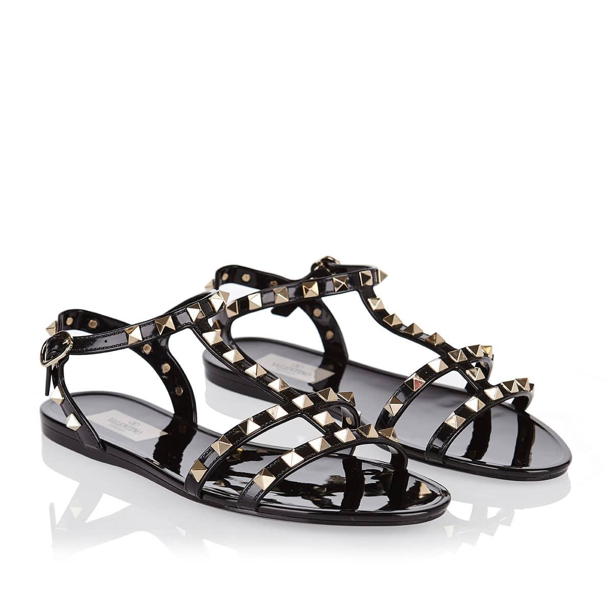 Rockstud rubber flat sandals