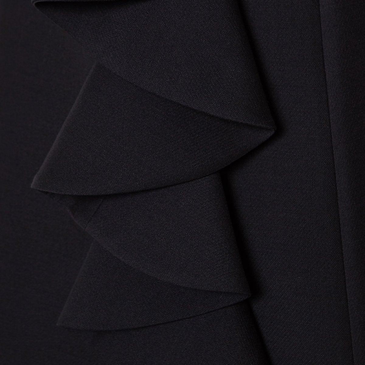 Ruffled wool-silk mini dress