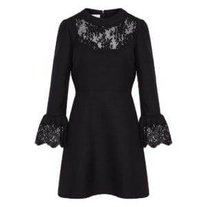 Lace-paneled mini dress