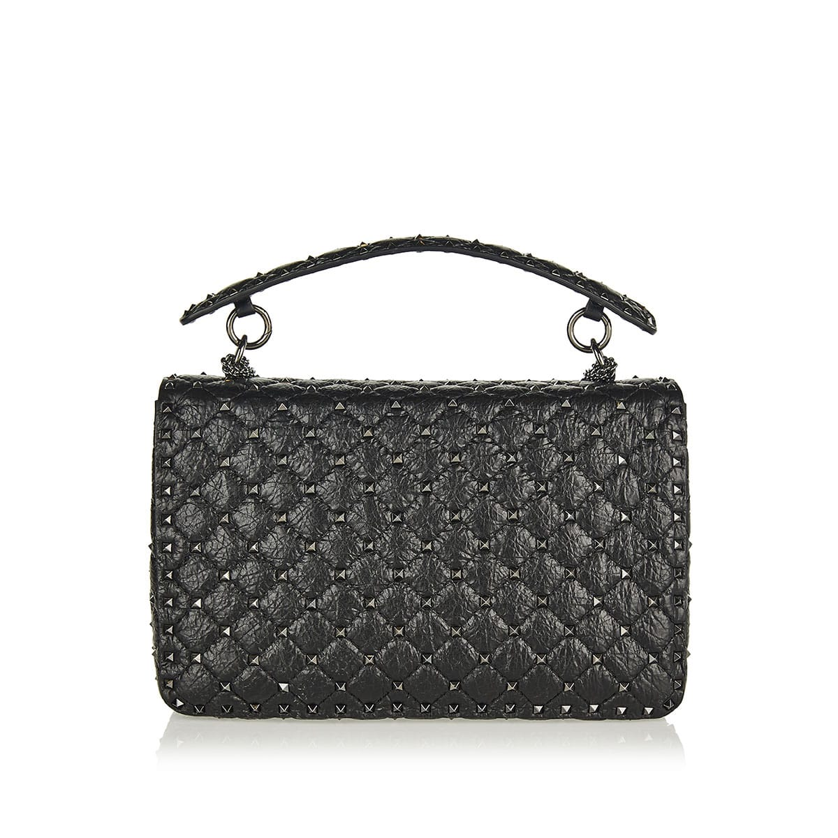 c0bf7e1836 Rockstud Spike crackle-leather chain bag | LuisaWorld