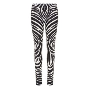 Zebra stretch-jersey leggings