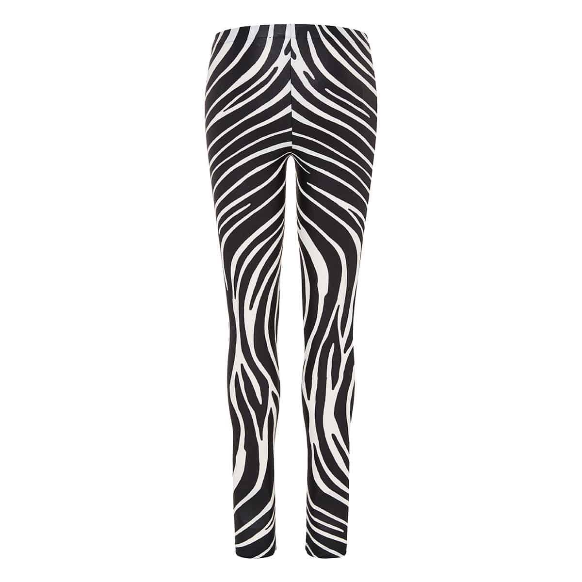 Zebra stretch-jersey leggings