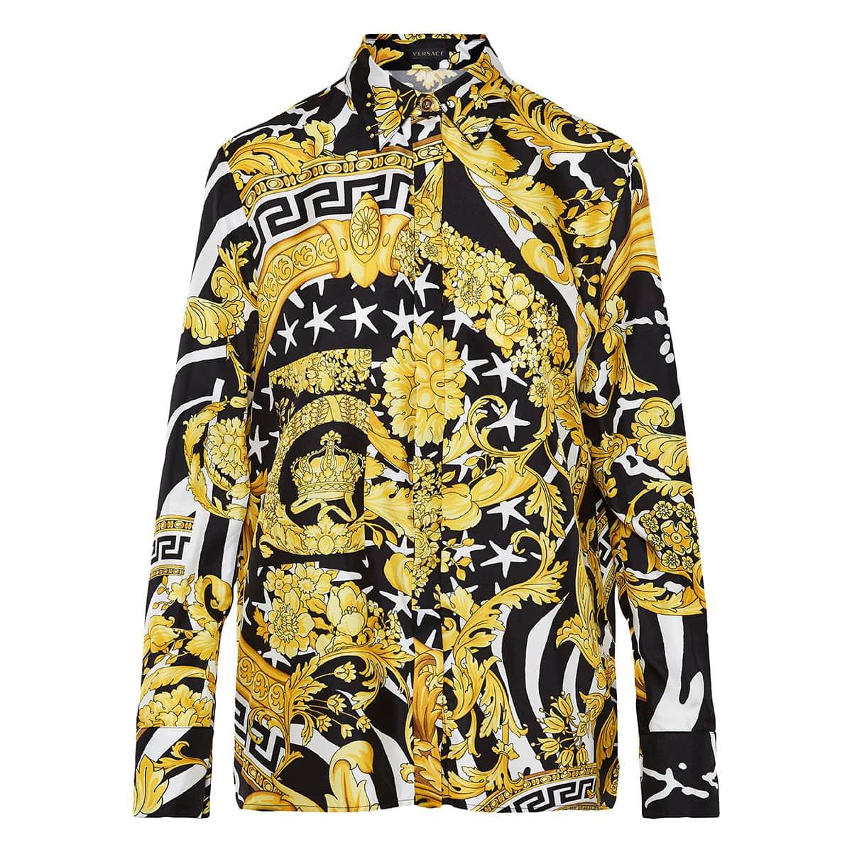 30e399186c44d3 Baroque print silk shirt | LuisaWorld