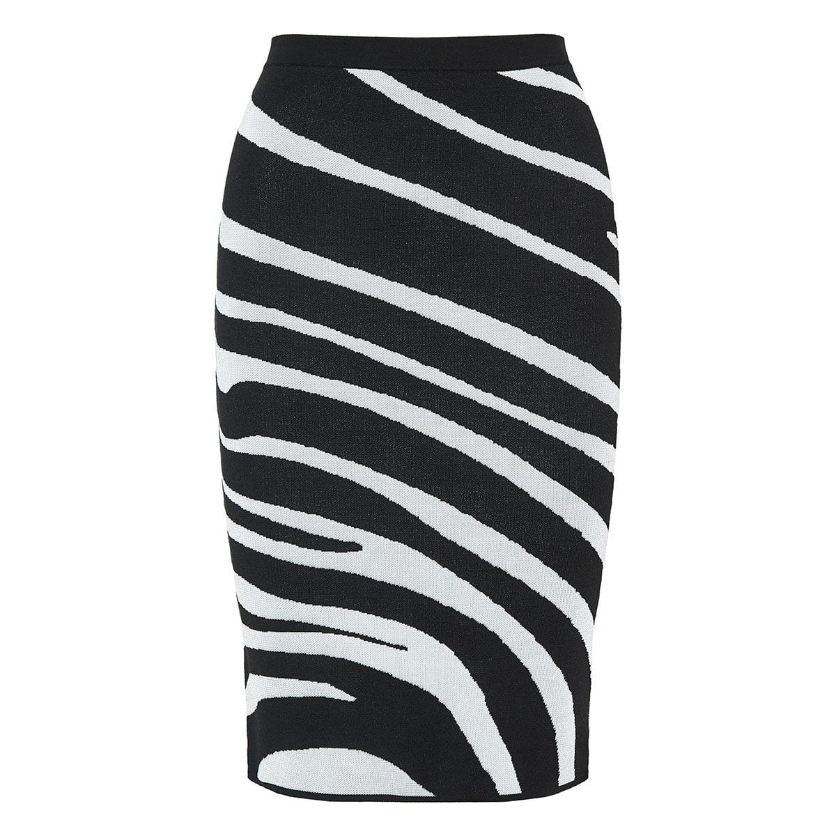 dd22d0445 Zebra intarsia knitted pencil skirt | LuisaWorld